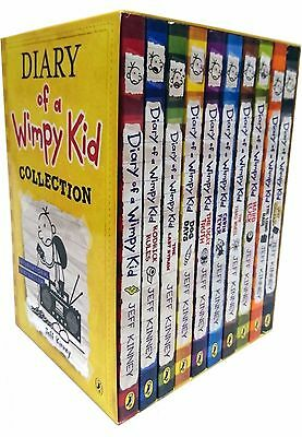 Diary of a Wimpy Kid Collection 10 Books Set cabin fever, Ugly Truth, Last Straw