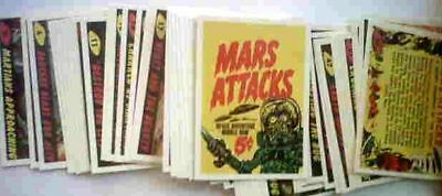 Mars Attacks 1984 Reprint Card Set