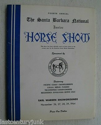 The Santa Barbara Junior National Horse Show Program 1964