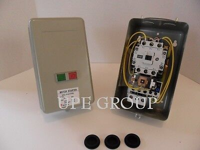 Magnetic Motor Starter 7.5Hp 1Ph W/ Push Button On / Off Switch