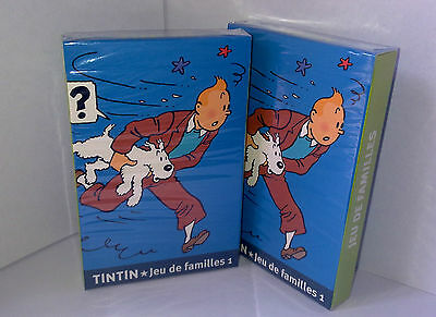 Official Licenced The Adventures of Tintin Cards Families 1 - Tintin games