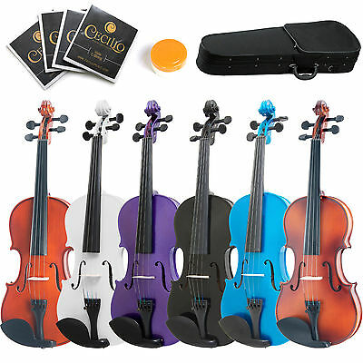 "Mendini 16"" 15"" 14"" 13"" 12"" Acoustic Viola ~Natural Wood Black Blue Purple White"