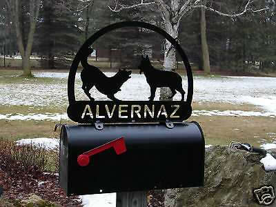 German Shepherd Dog MAILBOX TOPPER METAL Address Sign Pet Personalized Pet Lover