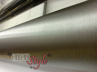 【Brushed Steel Grey】0.3m(11.8in)x1.52m(59.8in) Vinyl Wrap Sticker Film Sheet
