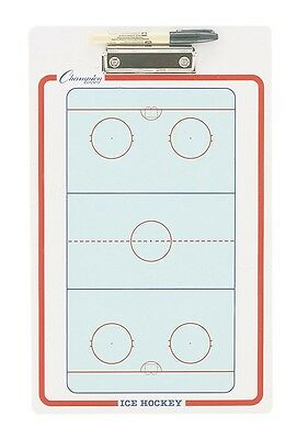 "NEW Champion Dry Erase 2 Sided Ice Hockey Coaches Board w/ Marker 11""x16"" CBIH"
