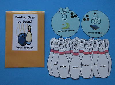 Teacher Made Literacy Center Resource Game Vowel Digraph oo