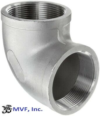 """90 Degree Elbow 150# 304 Stainless Steel 1/2"""" Npt Home Brewing New  710Wh"""