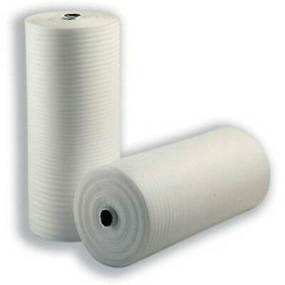 2x 750mm x 200m Jiffy Foam Wrap Packing Underlay Rolls
