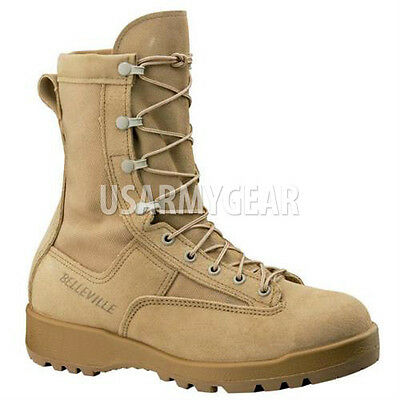 Made in US New 790 G Belleville Desert Tan Army Combat Goretex Military GI Boots