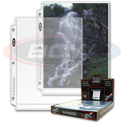 100 1 pocket sheets 8x10 Photo Album Binder Pages Ultra Storage PRO