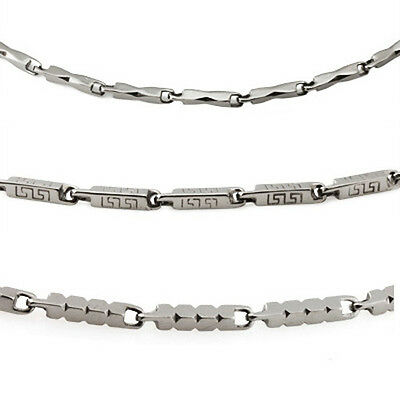 """Mens Stainless Steel 3mm Chain 22"""" Necklace ~ Choose from 3 Styles"""