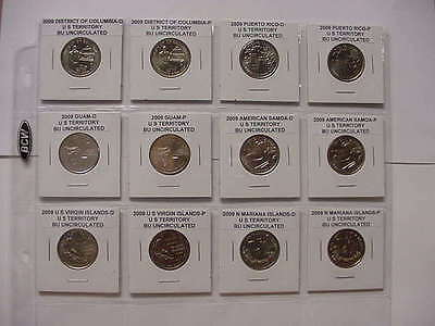 Build Your Own Album Dc & Territory Quarters 2009 All 12 Coins