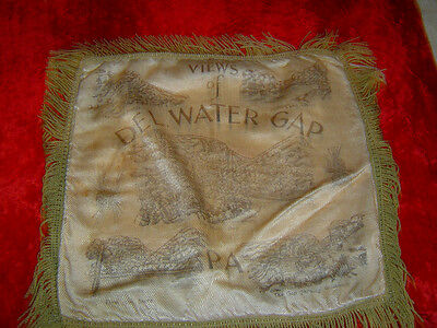 VINTAGE PILLOW COVER - Views of DELAWARE WATER GAP, PA. - 1930's era