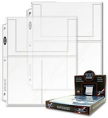 """25 BCW Refill Pages to display Postcards or Photos with 3 pocket with 4"""" x 6"""""""
