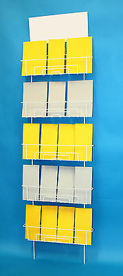 Wall rack display for mixed sized products / greeting cards / DVD's / leaflets