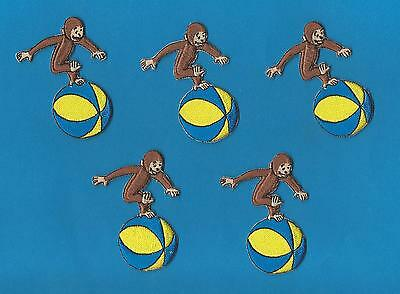 5 Lot Curious George Cartoon Iron On Patches Crests B