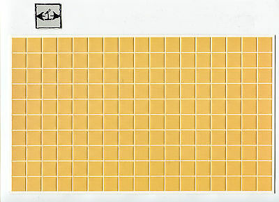 Mediterranean Wall Tile Sheet  34301 dollhouse 1pc World /& Model card stock