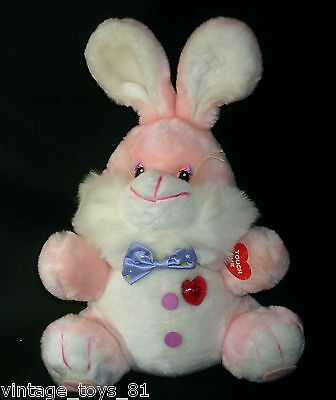 "15"" Vintage 1986 Pink Bunny Rabbit Musical Stuffed Animal Plush Toy Rare Easter"