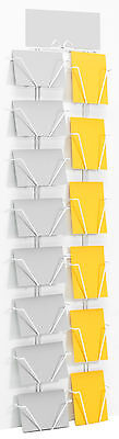 Wire wall rack for 7in x 5in greeting cards and DVD's - 7X5 wall display stand