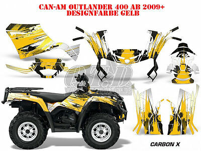 Amr Racing Dekor Kit Atv Can-Am Outlander Std & Xmr/max Graphic Kit Carbon X B