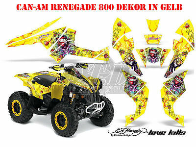 Amr Racing Dekor Kit Atv Can-Am Renegade, Ds250,Ds450,Ds650 Ed-Hardy Lovekills B