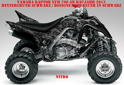 Invision Dekor Graphic Kit Atv Yamaha Raptor Yfm 125/250/350/660/700 Nitro B