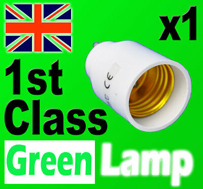 Lamp Light Bulb Socket Base Converter Edison Screw adapter GU10 to E27 UK