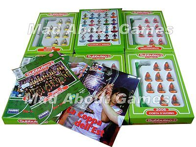 SUBBUTEO LEGGENDA 1 to 25 Complete w/ booklet Football Soccer Legends Teams