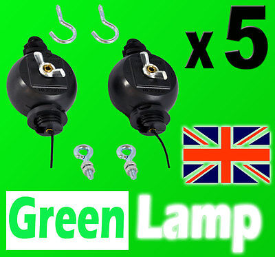 5 PAIRS  Yoyo Roller Easy Hanger Reflector Hood Lamp Hydroponics Light grow tent