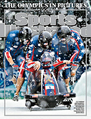 March 10, 2010 Steve Holcomb USA Bobsled SPORTS ILLUSTRATED NO LABEL Newsstand