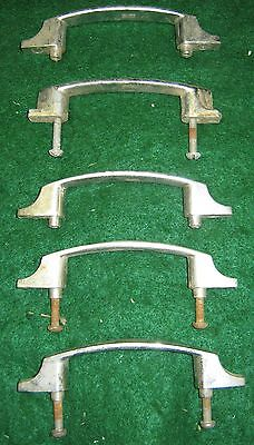 1950's Vintage  Chrome Drawer Door Cabinet Pulls Set of 5 Old  # 22-12