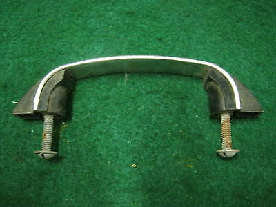 1950's Vintage Chrome and Black Drawer Door Cabinet Pull Single Old # 27-12
