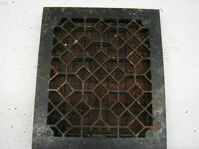 Antique Late 1800's Cast Iron Heating Grate Unique Ornate Design 14 X 12 C