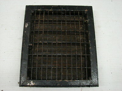Vintage 1920S Iron Heating Grate Rectangular Design 13.75 X 11.75