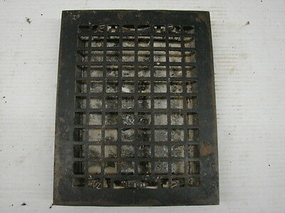 Antique Cast Iron Heating Grate Square Design 13.75 X 11