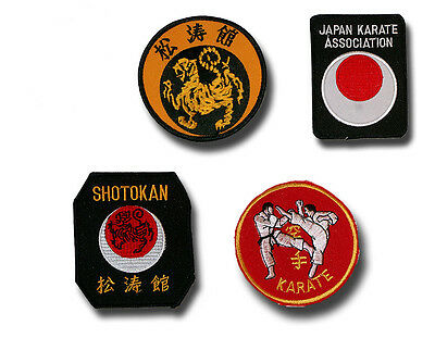 Set of 4 embroidered karate patches/badges - free delivery