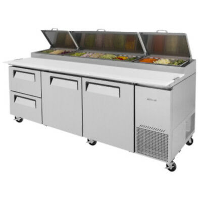 Turbo Air TPR-93SD-D2 Pizza Prep Table w/ Two Drawers Stainless