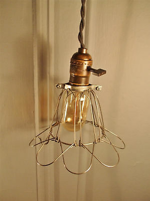 Vintage Industrial Cage Light -Machine Age Pendant Lamp