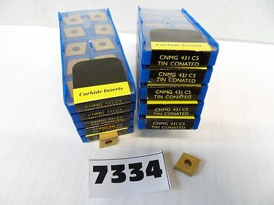 10 Pcs Cnmg 431 C5 Tin Coated Carbide Inserts **new** Pic#7334