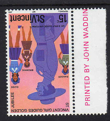 ST.VINCENT 1977 GUIDES 15c INVERTED WATERMARK SG 537w MNH.