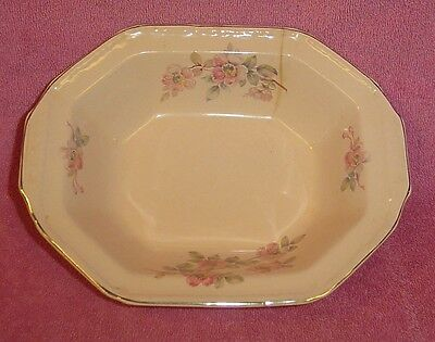 Edwin M Knowles Alice Annglow Pink Oval Vegetable Serving Bowl