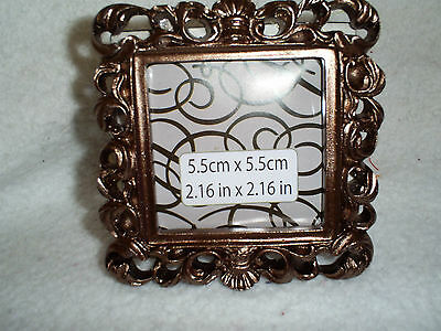 """Beautiful Bronze Color Square Table Top Frame - Photo Size is 2.16"""" x 2.16"""""""