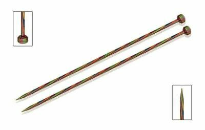 "KnitPro Symfonie Wood Straight / Single Point Knitting Needles - 35cm / 14"" pair"