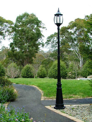 Black Federation Garden Lamp Post Pool Driveway Outdoor Mood Light New Street