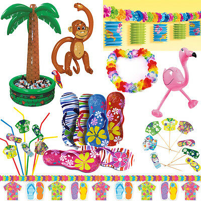 Hawaii Deko Party Starndparty Beachparty Motto Strand Beach Set