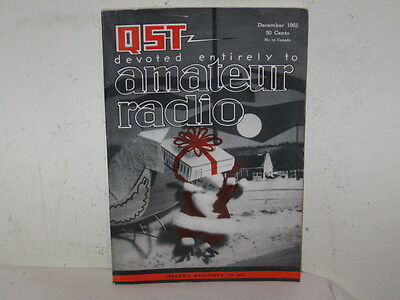 Vintage QST Amateur Radio Magazine December of 1962 VFC 208 pages Fine Ads