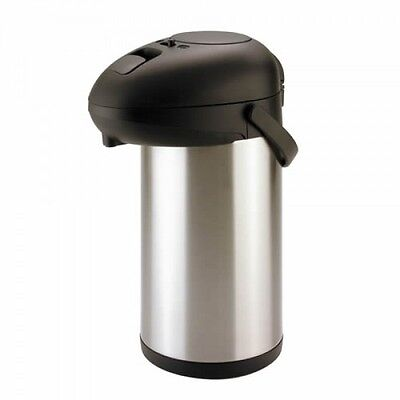 3L Airpot / Flask Drinks Dispenser Pump Action, Catering, Tea/ Coffee Urn