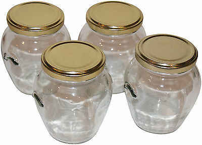 8 Orcio Glass Jars With Lids. Ideal for making beautiful candles