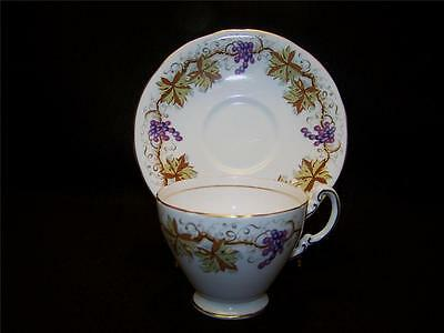 Early Aynsley Grapes and Vines Teacup and Saucer