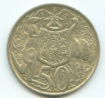 1966 Australian Round 50 Cent Coin - 80% pure silver  Year : 1966  Weight : 13.2